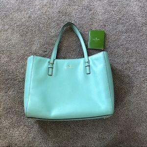 kate spade 0102760 light blue teal square purse